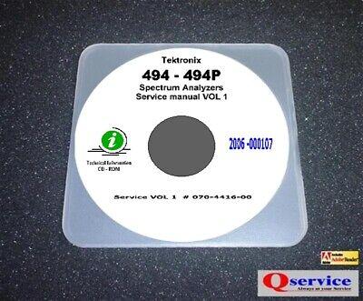Tektronix Tek 494 494p Service Manual Volume 1 Cd