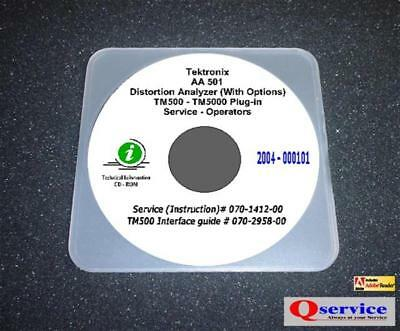 Tektronix Tek Aa501 Aa 501 Aa-501 Service - Oprs Manual