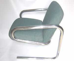 Mid Century Modern Chrome Chair Thonet Bauhaus Style