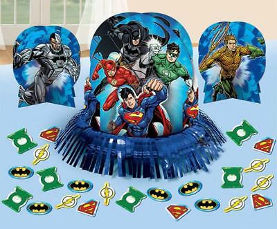 Justice League Table Decorating Kit Birthday Party Supplies 23 Piece Set New