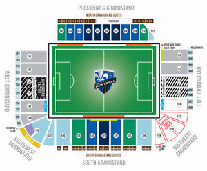 Montreal Impact vs New England-July 2-Section 123 Range/Row 'L'
