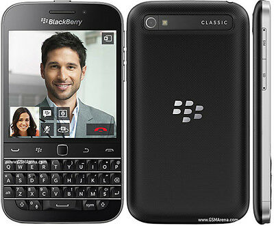 New BlackBerry Classic Q20 16GB - Black (Unlocked) Smartphone QWERTY Touch GSM