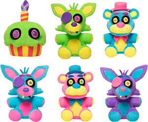 Five Nights at Freddys BlackLight Plushies - Neon