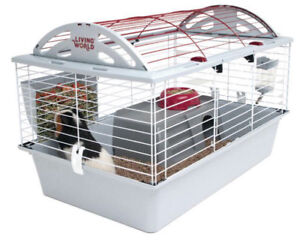 Living World Deluxe Guinea Pig Dwarf Rabbit Habitat Cage