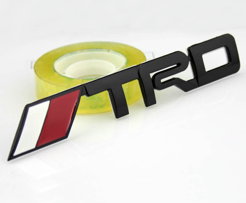 Car Performance Racing Sports Metal Badge Emblem Stickers Decals For Black TRD