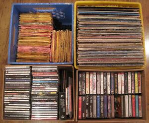 Records, Vinyl, LPs, 45s, 78s, Cassettes, Tapes, CDs, Music, etc