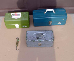 Vintage Fishing Tackle Boxes (3 available)
