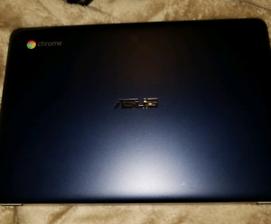 Like new blue Asus chrome laptop