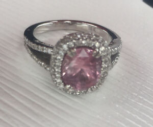 Pink sapphire and diamond ring. Appraised @ $8500