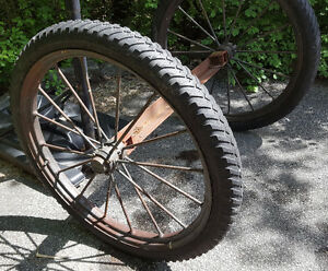 "Antique Electric Wheel Co Quincy IL 36"" Spoke Wagon Wheels Pair Kawartha Lakes Peterborough Area image 5"