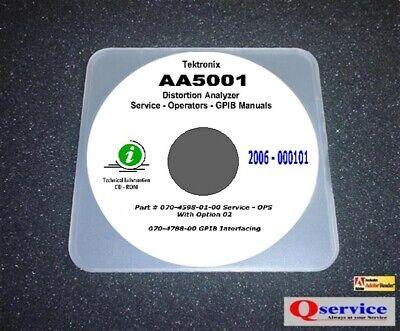 Tektronix Tek Aa5001 Aa-5001 Aa 5001 Service - Ops Hi Resolution Manuals Cd
