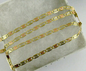 10K Solid Gold Gucci Mariner flat chain necklace 18 3D