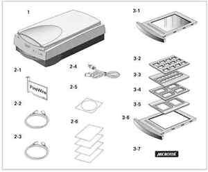 Accessoires pour scanneur Microtek Artixscan 1800f