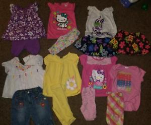 Girl's 3-6 month summer lot