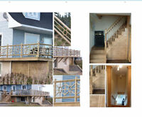 Finishing carpentry, drywall, molding, decking, d&w installation