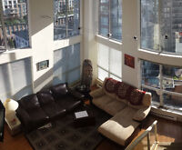 SIMPLY THE BEST. DT/Yaletown 16Ft Ceilings Furnished Loft!