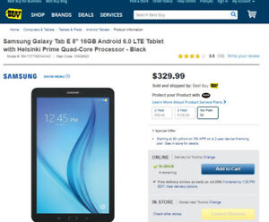 Samsung Galaxy Tablet E (8 inch) LTE (Brand New In Box) m