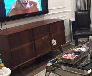 Wood tv cabinet , hutch dresser , midcentury modern