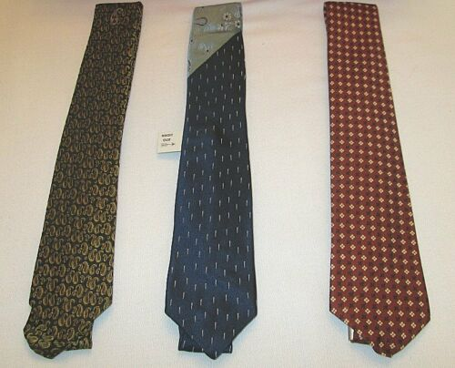 3 Vintage NOS Mid Century Men's Neck Ties