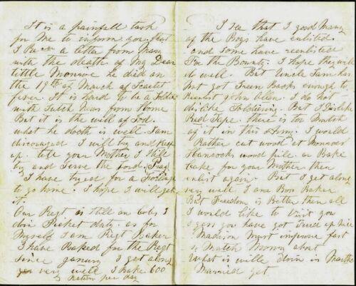 CIVIL WAR LETTER - Port Royal, S.C. - 1864