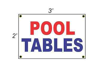 2x3 POOL TABLES Red White & Blue Banner Sign NEW Discount Size & Price