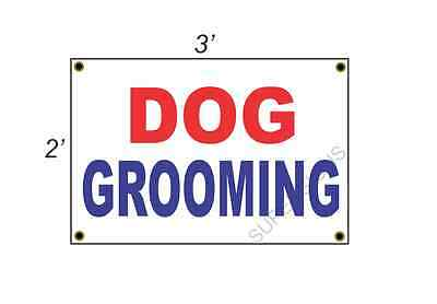 2x3 DOG GROOMING Red White & Blue Banner Sign NEW Discount Size & Price