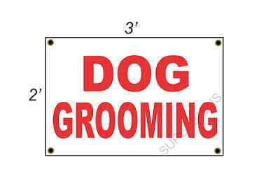 2x3 DOG GROOMING Red & White Banner Sign NEW Discount Size & Price FREE SHIP