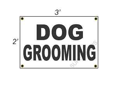 2x3 DOG GROOMING Black & White Banner Sign NEW Discount Size & Price FREE SHIP