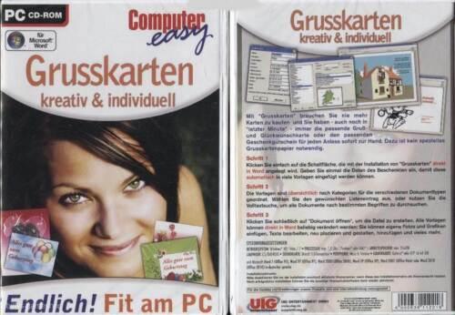 Computer easy: Grusskarten kreativ & individuell !! für Word !! NEU !!