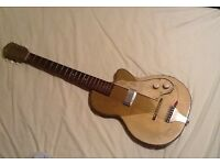 Vintage KAY K136 Stratotone Guitar 1954 Gold USA made