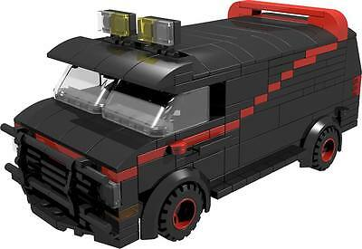 CUSTOM building INSTRUCTION for A-TEAM VAN male tank to build from LEGO® parts, used for sale  Exmouth