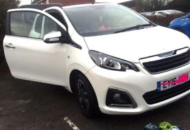 WHITE Peugeot 1.2 PETROL cheap on insurance and is tax free