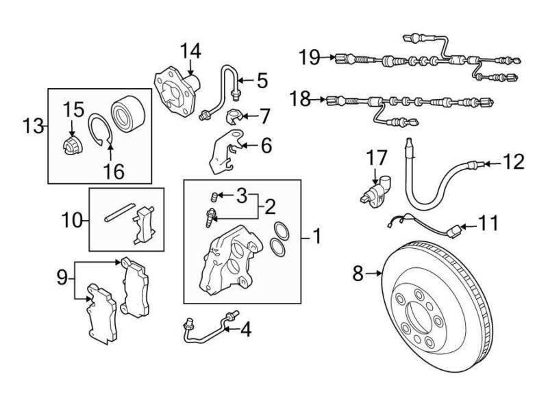 Genuine Rear Brake Pad Wear Sensors Vw Touareg