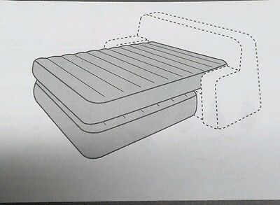 "HIDE A BED KIT 60x80"" QUEEN PVC RV CAMPER MOTORHOME DOUBLE BLADDER AIR MATTRESS"