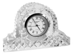 WATERFORD CRYSTAL MADE IN IRELAND GIFTWARE SMALL DESK CLOCK NIB