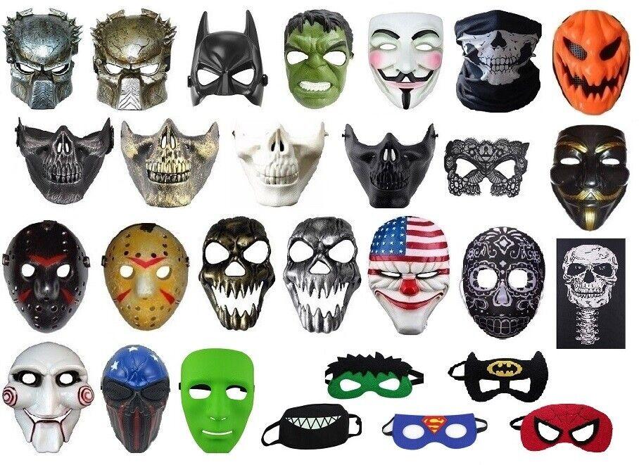 Halloween Maske 🎃 35+ Modelle zur Auswahl 🎭 Karneval Fasching Kostümparty 👺