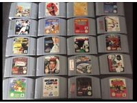 Nintendo 64 with 17 games not including Mario and pokemon