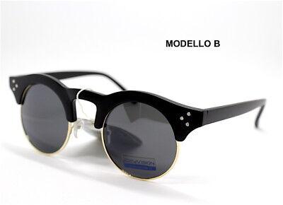 Sonnenbrillen Männer Frau Klassisch Runde Sonnenbrille Round Tortoise Schwarz