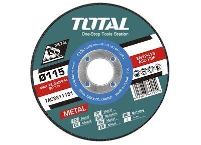 Caja 10 discos corte metal amoladora 115mm 1,2mm Total