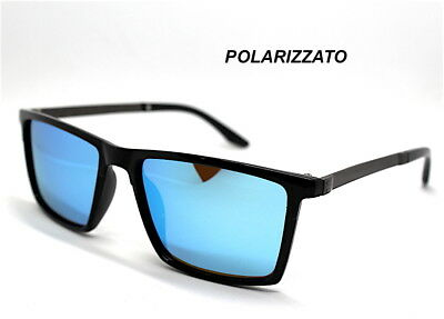 Sonnenbrillen Männer Stil Rechteckig Objektiv Polarized Schwarz Braun Blau