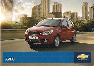 Chevrolet Aveo 2009-10 UK Market Sales Brochure S LS LT 1.2 1.4