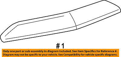 (Lincoln FORD OEM 07-14 Navigator Hood-Front Molding Trim 7L7Z16856AA)