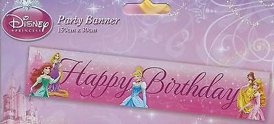 DISNEY PRINCESS GIANT BIRTHDAY PARTY BANNER ! Bigger & Better Size 150 X 30 CM (Best Birthday Banners)