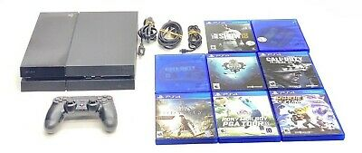 Sony PlayStation 4 PS4 Original Edition Console Bundle 8 Games Free Shipping