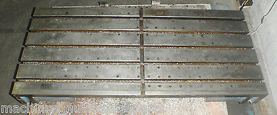 48.75 X 21.50 X 5 Steel Welding T-slotted Table Cast Iron Layout Plate T-slot