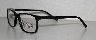BULOVA ROSCOE BLACK New Optical Eyeglass Frame For (Frame For Eyeglass)