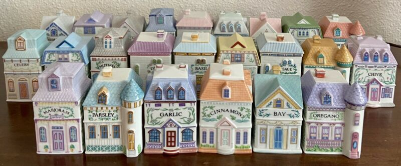 Lenox Spice Village COMPLETE.  Mini Porcelain Houses.