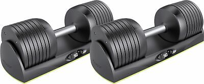 JAXJOX DumbbellConnect™ – Adjustable Dumbbell Pair – Cool Gray