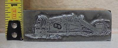 Vintage Gold Mining Or Sand Plant Logo Metal Wood Letterpress Printing Block