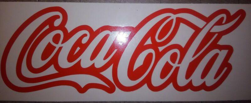 "TWO LARGE Coca-Cola Coke Decals Sticker New Die-Cut Vinyl OFF-SET Laptop 12"""